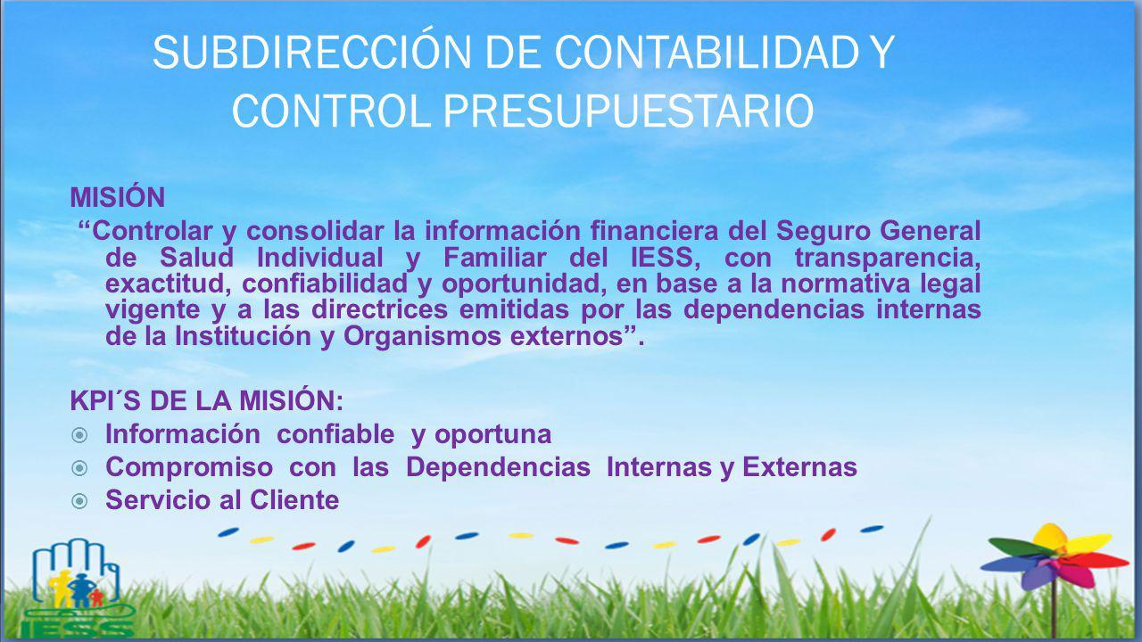 SUBDIRECCIÓN DE CONTABILIDAD Y CONTROL PRESUPUESTARIO