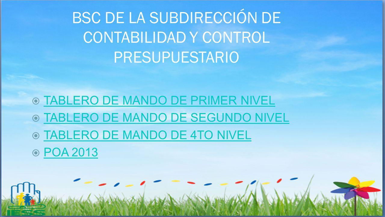 BSC DE LA SUBDIRECCIÓN DE CONTABILIDAD Y CONTROL PRESUPUESTARIO