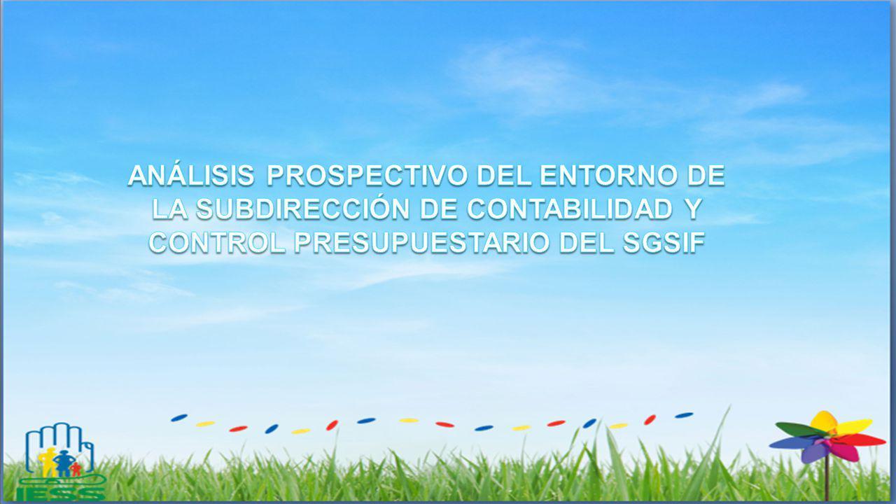 ANÁLISIS PROSPECTIVO DEL ENTORNO DE LA SUBDIRECCIÓN DE CONTABILIDAD Y CONTROL PRESUPUESTARIO DEL SGSIF