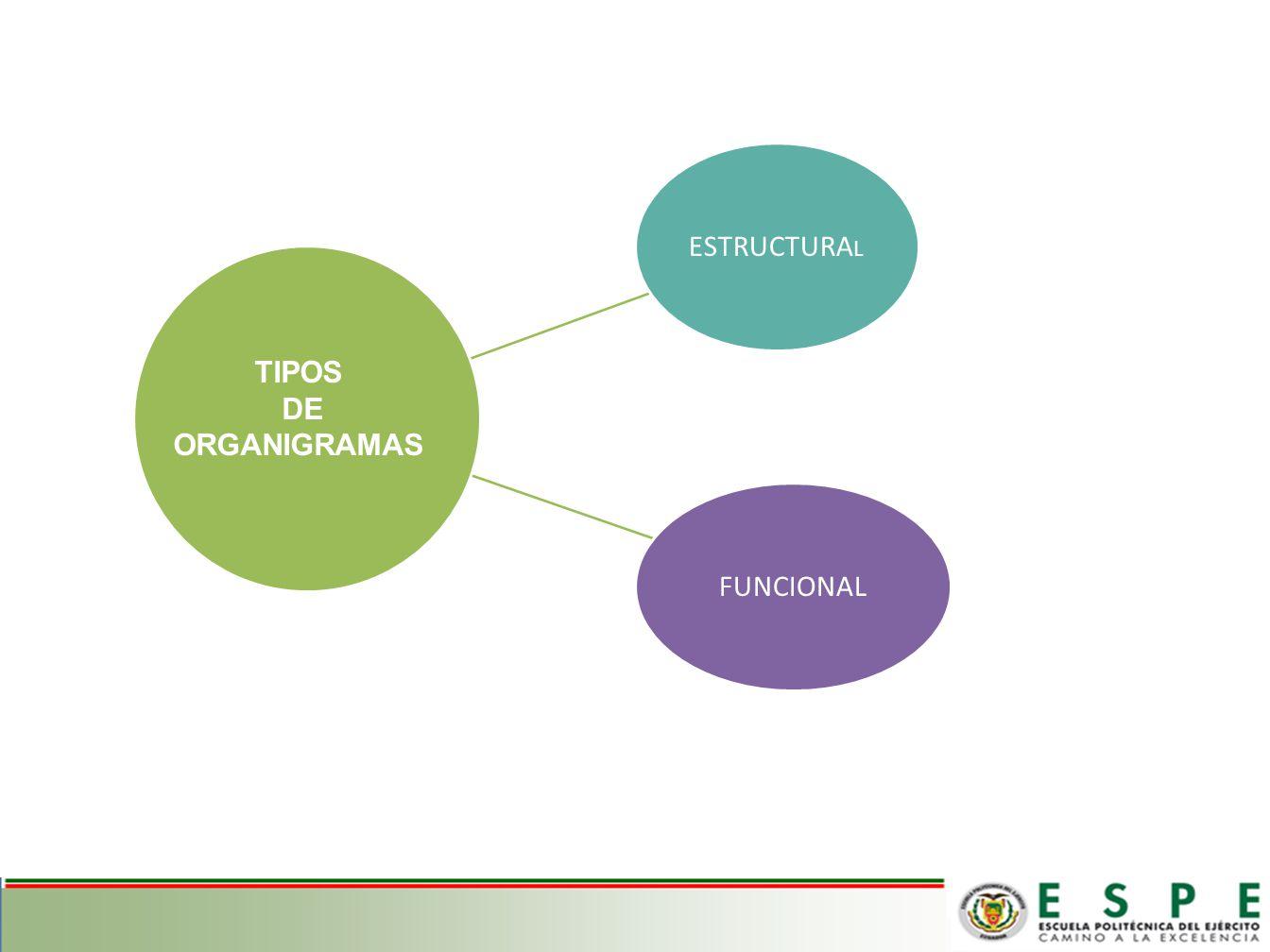 ESTRUCTURAL FUNCIONAL TIPOS DE ORGANIGRAMAS