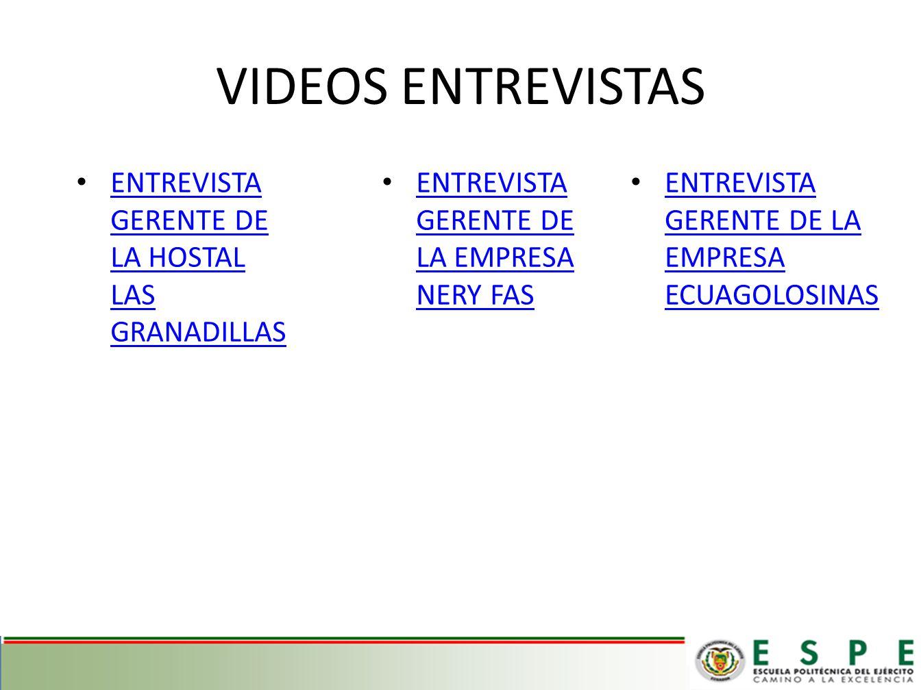 VIDEOS ENTREVISTAS ENTREVISTA GERENTE DE LA HOSTAL LAS GRANADILLAS