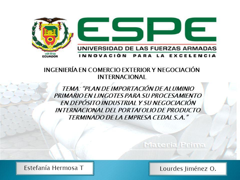 INGENIERÍA EN COMERCIO EXTERIOR Y NEGOCIACIÓN INTERNACIONAL