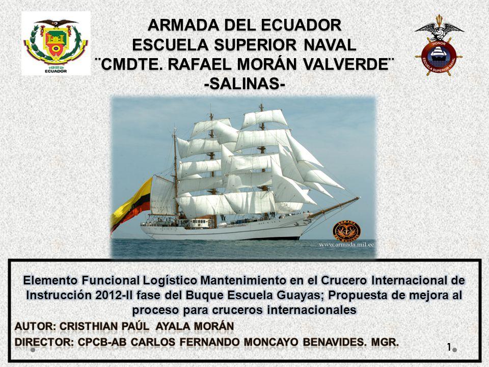 ARMADA DEL ECUADOR ESCUELA SUPERIOR NAVAL ¨CMDTE