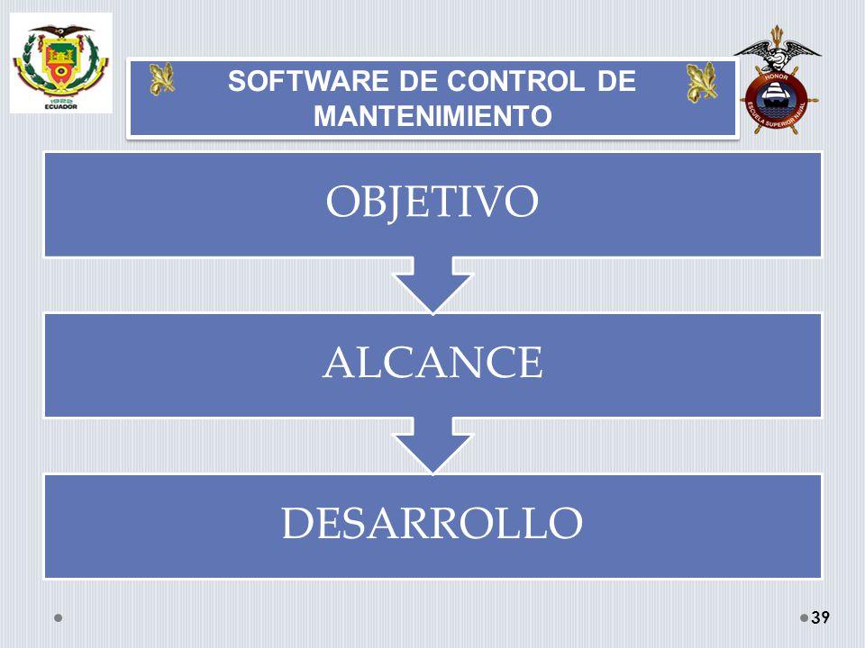 SOFTWARE DE CONTROL DE MANTENIMIENTO