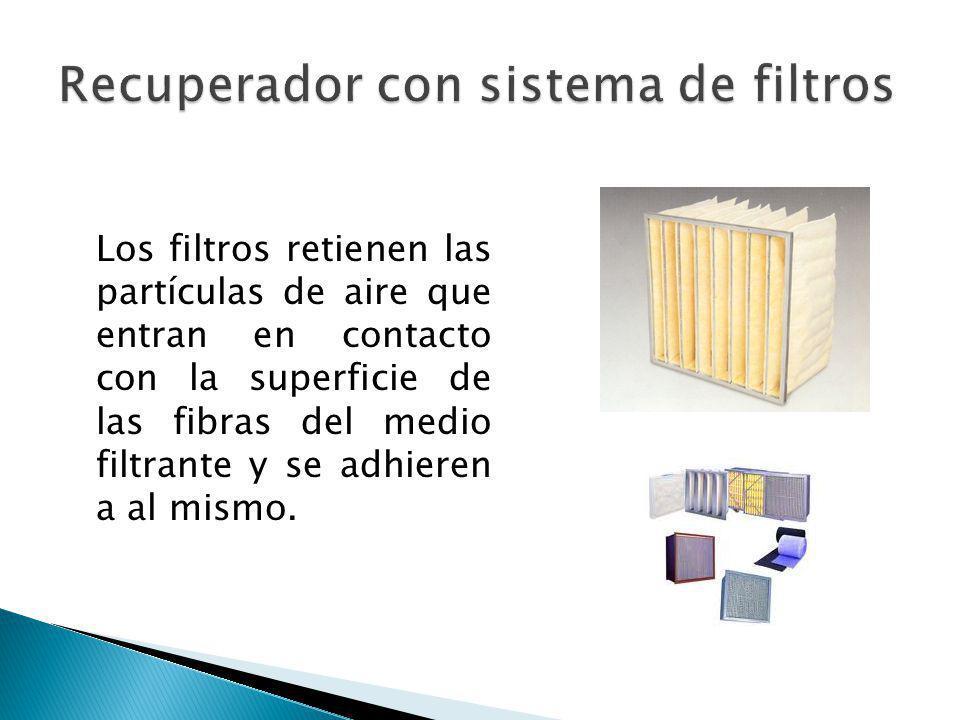 Recuperador con sistema de filtros