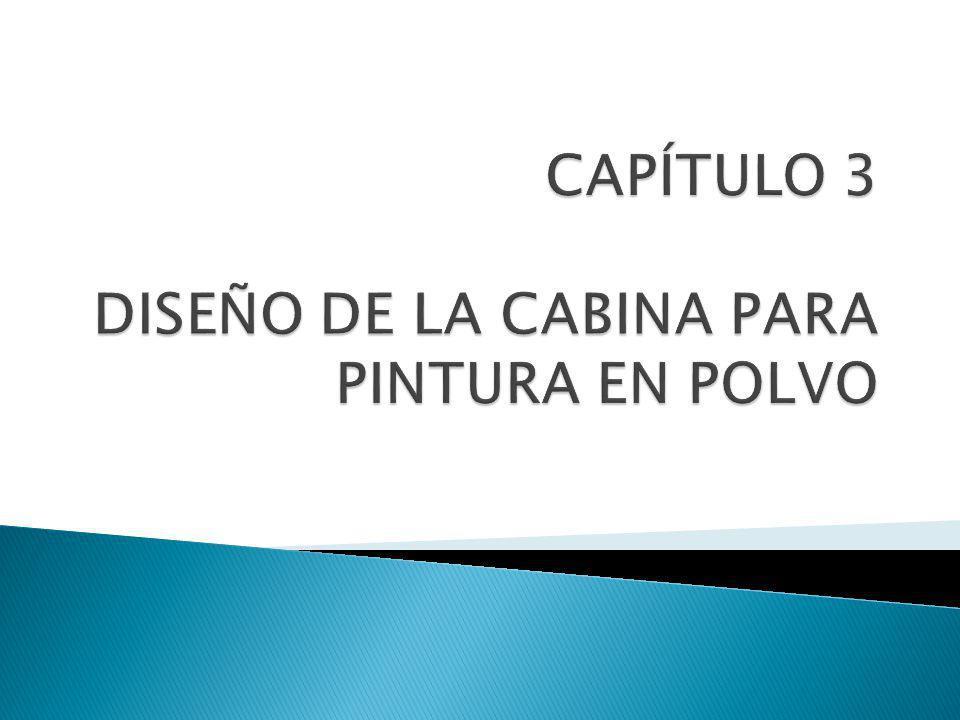 CAPÍTULO 3 DISEÑO DE LA CABINA PARA PINTURA EN POLVO