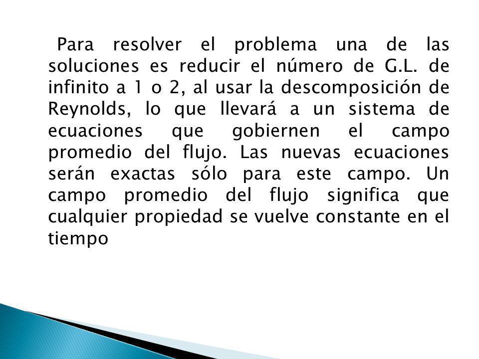 Para resolver el problema una de las soluciones es reducir el número de G.L.