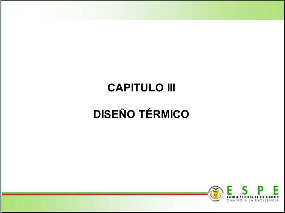 CAPITULO III DISEÑO TÉRMICO