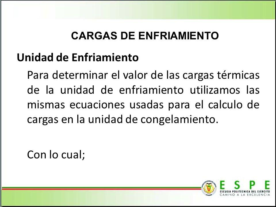CARGAS DE ENFRIAMIENTO