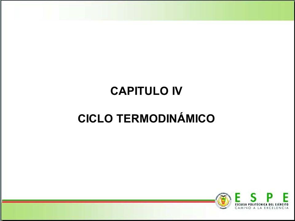 CAPITULO IV CICLO TERMODINÁMICO