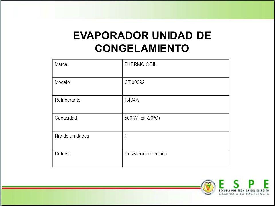 EVAPORADOR UNIDAD DE CONGELAMIENTO