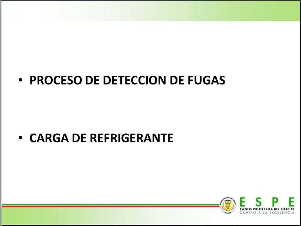 PROCESO DE DETECCION DE FUGAS