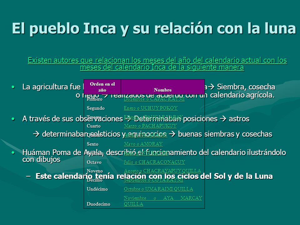 El pueblo Inca y su relación con la luna