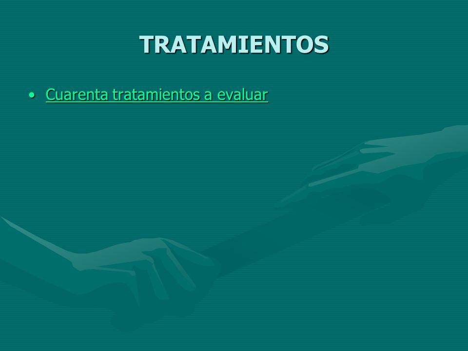 TRATAMIENTOS Cuarenta tratamientos a evaluar