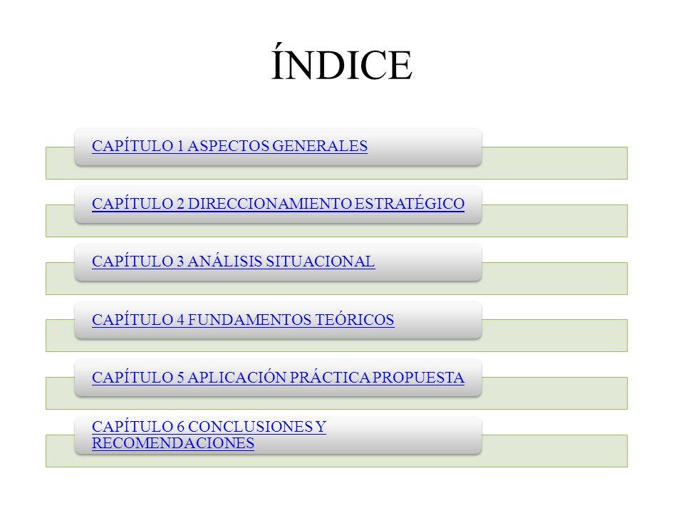 ÍNDICE CAPÍTULO 1 ASPECTOS GENERALES