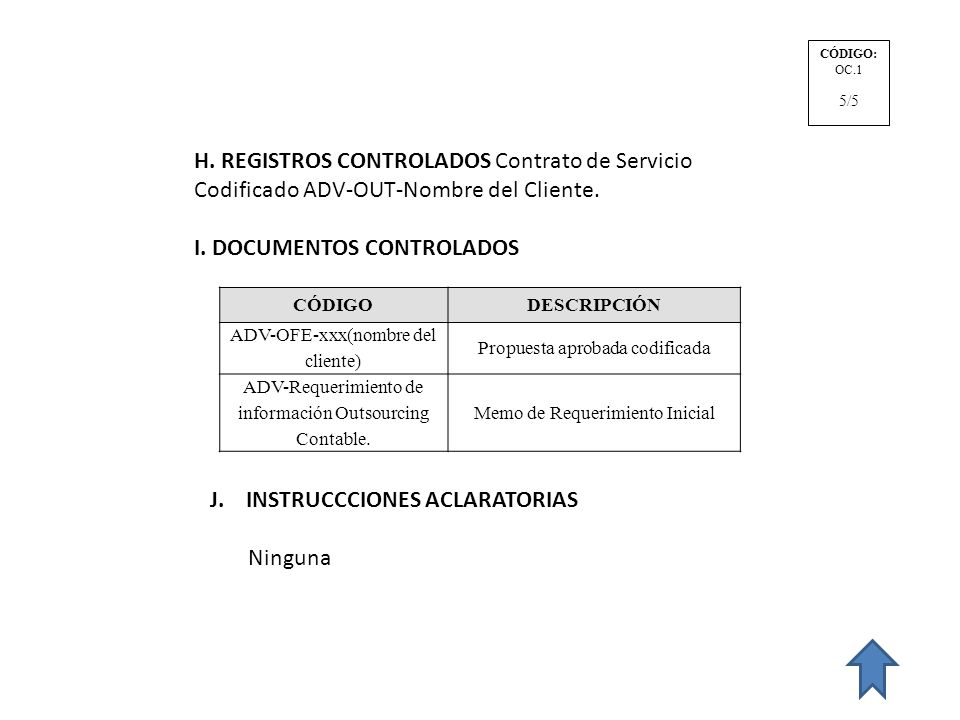 I. DOCUMENTOS CONTROLADOS