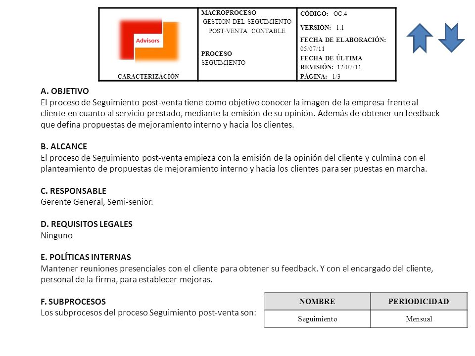GESTION DEL SEGUIMIENTO POST-VENTA CONTABLE