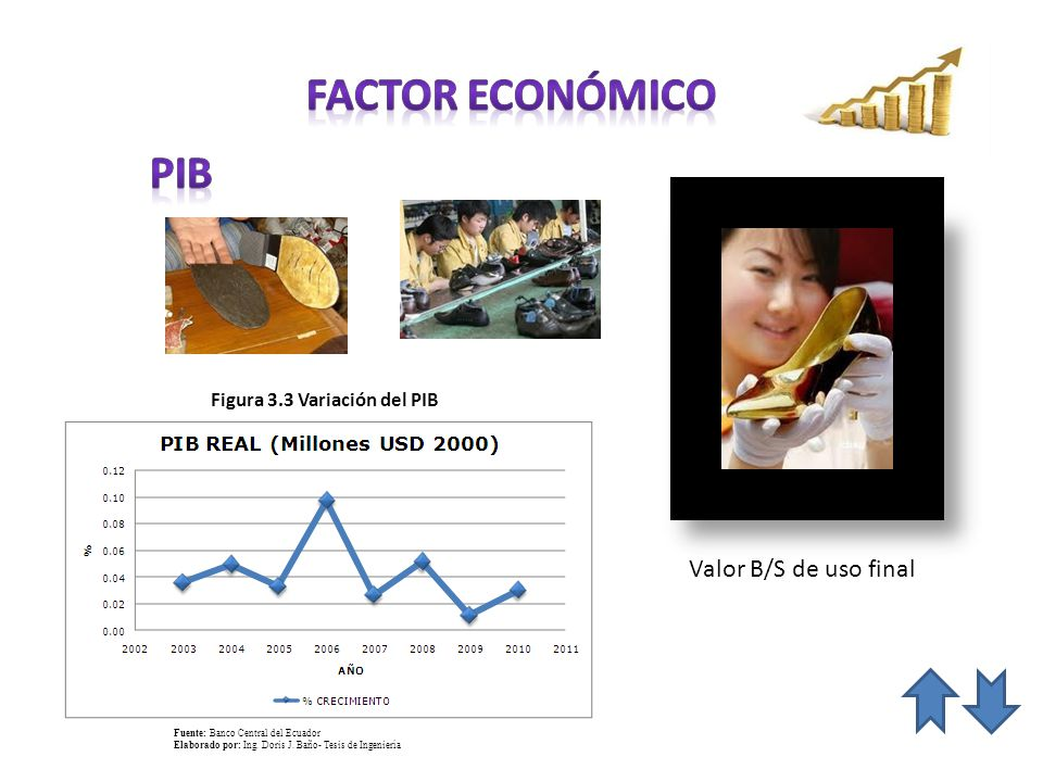 FACTOR económico pib Valor B/S de uso final