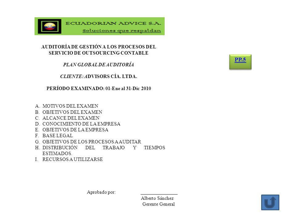 PERÍODO EXAMINADO: 01-Ene al 31-Dic 2010