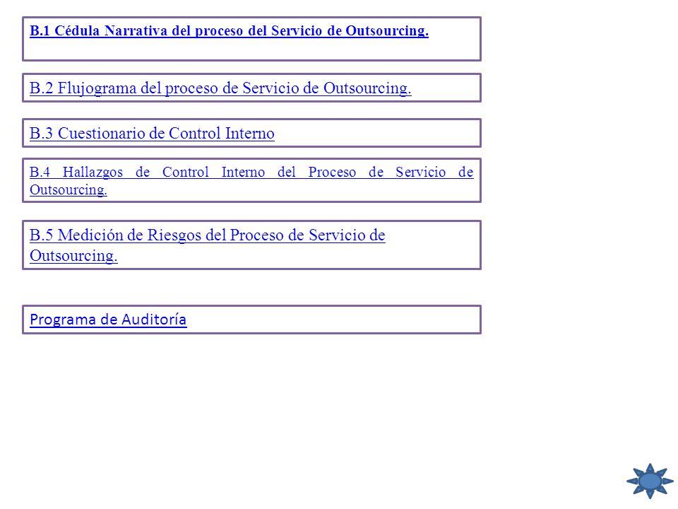 B.2 Flujograma del proceso de Servicio de Outsourcing.