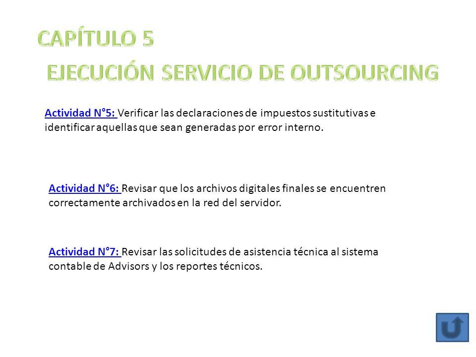 EJECUCIÓN SERVICIO DE OUTSOURCING