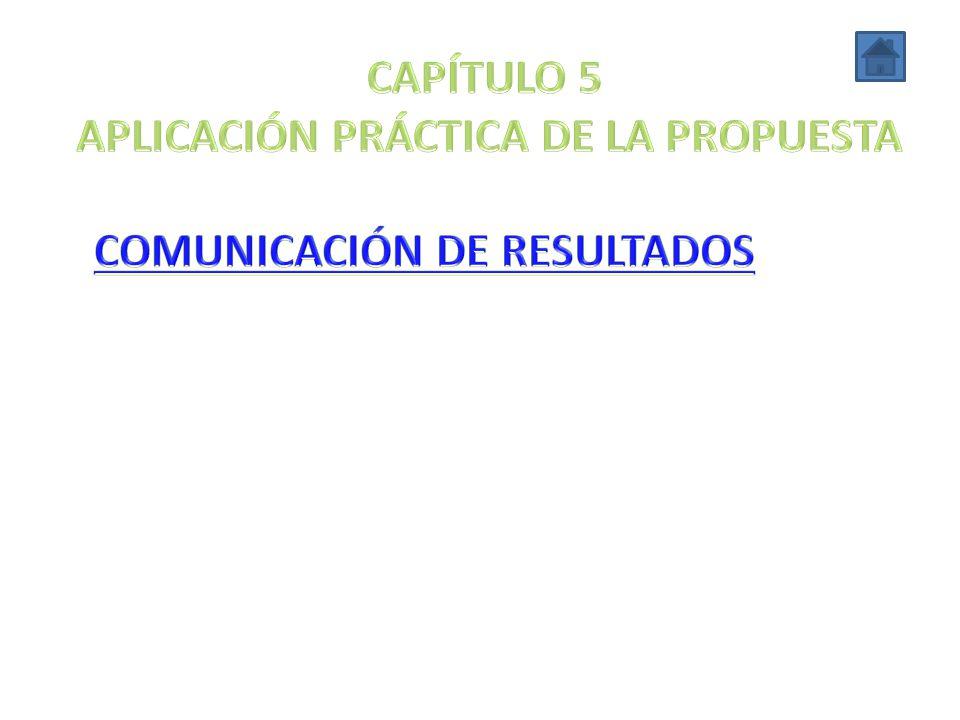 APLICACIÓN PRÁCTICA DE LA PROPUESTA COMUNICACIÓN DE RESULTADOS