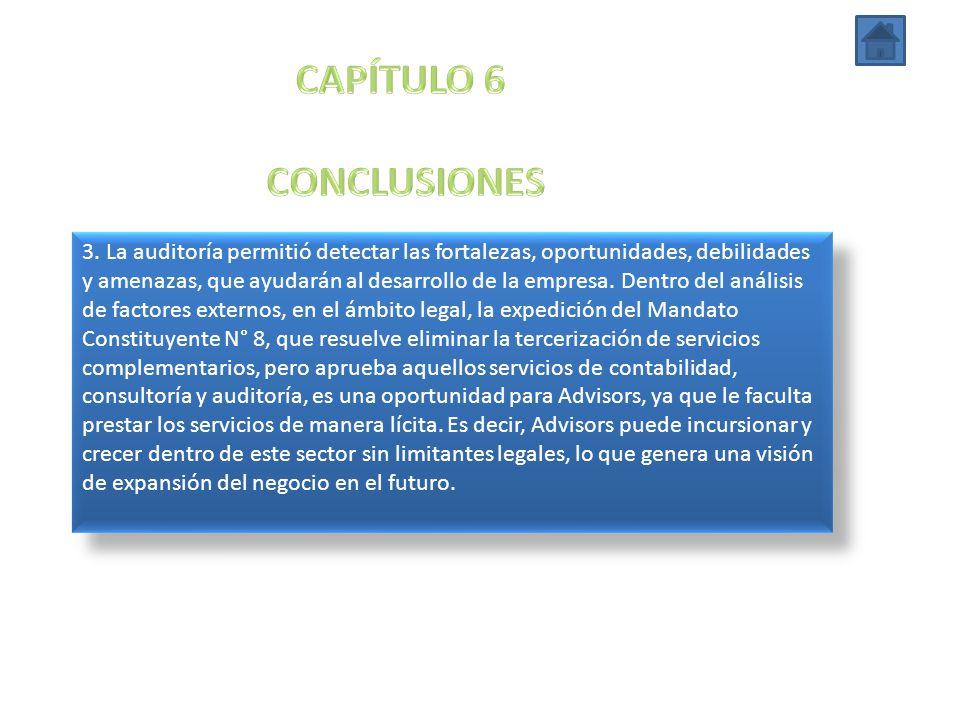 CAPÍTULO 6 CONCLUSIONES