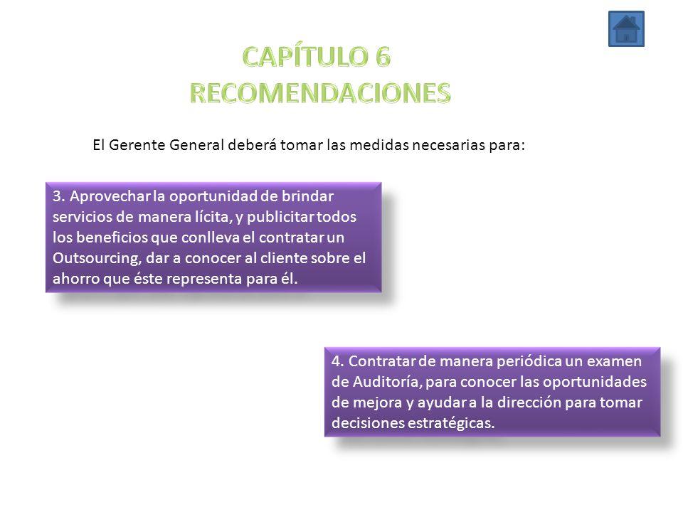 CAPÍTULO 6 RECOMENDACIONES