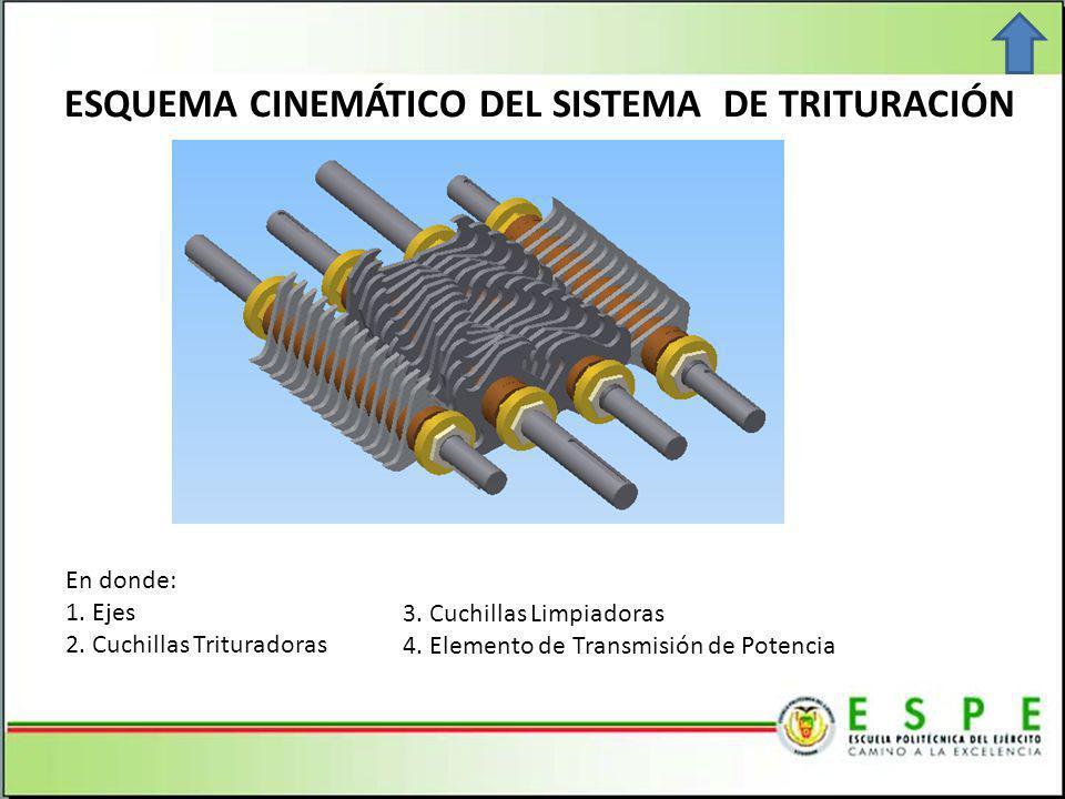 ESQUEMA CINEMÁTICO DEL SISTEMA DE TRITURACIÓN