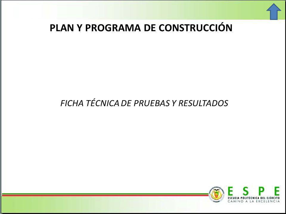 PLAN Y PROGRAMA DE CONSTRUCCIÓN