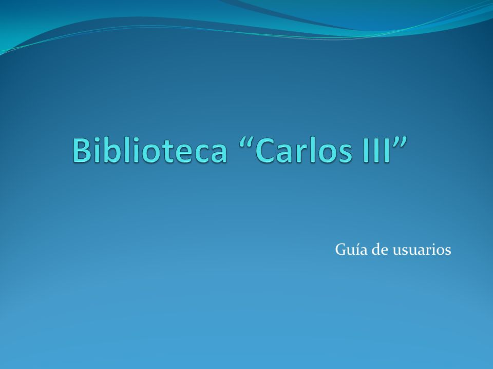 Biblioteca Carlos III