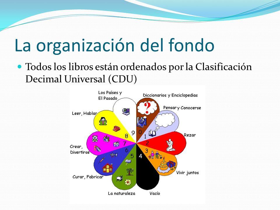 La organización del fondo