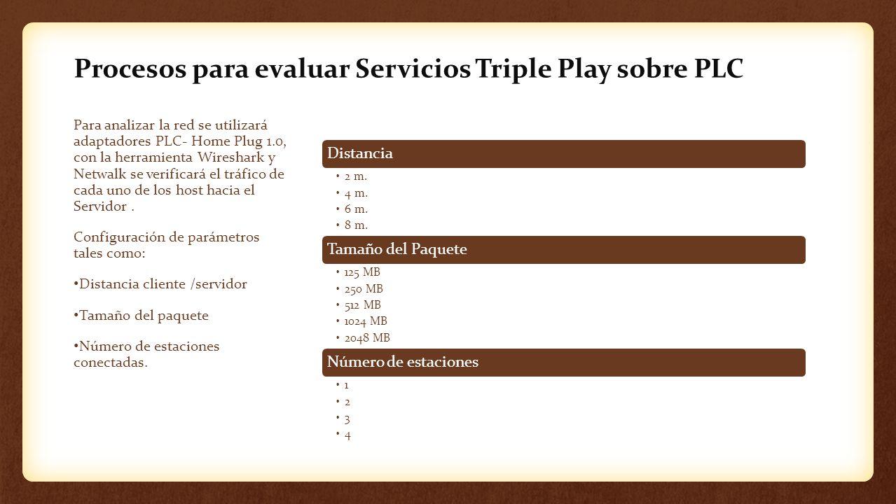 Procesos para evaluar Servicios Triple Play sobre PLC