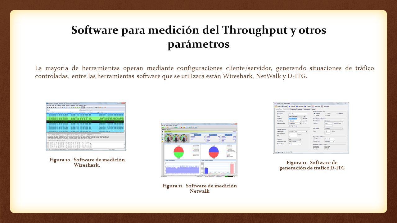 Software para medición del Throughput y otros parámetros