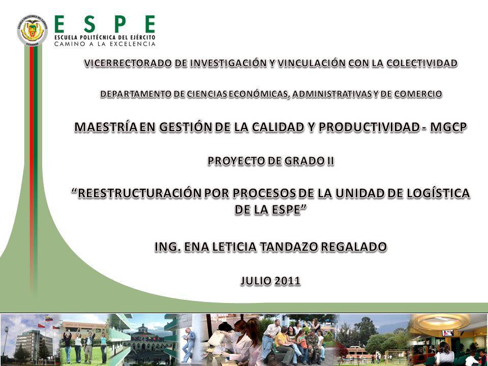 MAESTRÍA EN GESTIÓN DE LA CALIDAD Y PRODUCTIVIDAD - MGCP