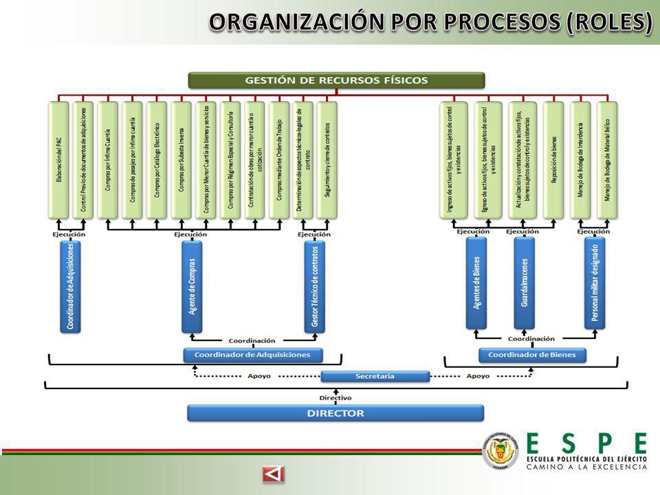 ORGANIZACIÓN POR PROCESOS (ROLES)