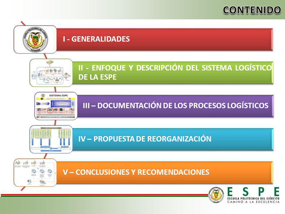 CONTENIDO I - GENERALIDADES