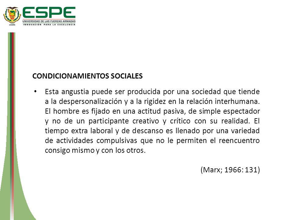CONDICIONAMIENTOS SOCIALES