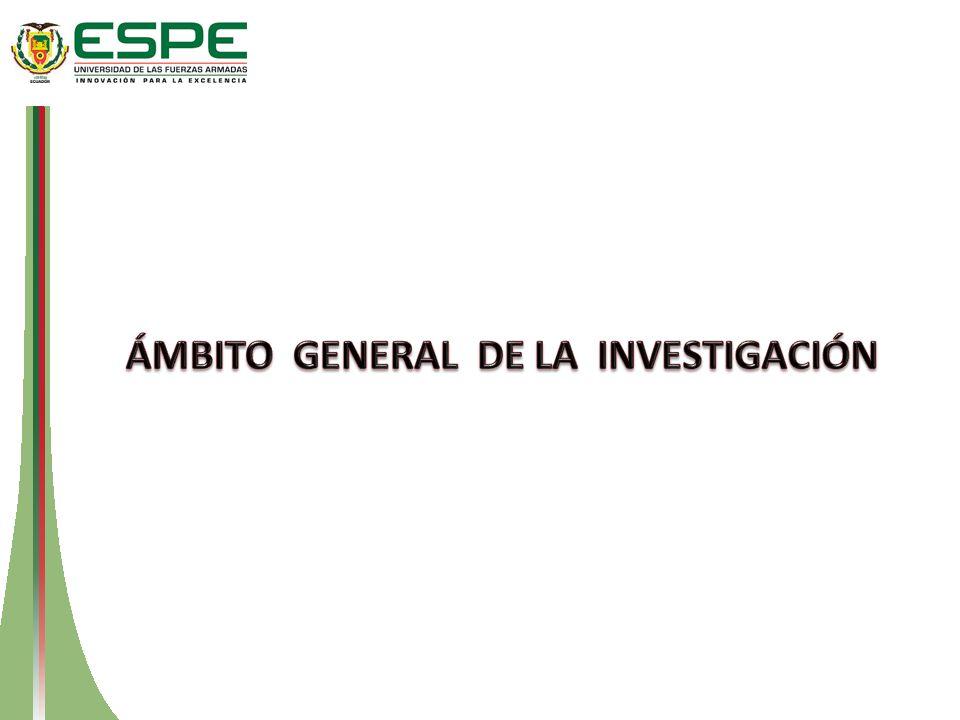 ÁMBITO GENERAL DE LA INVESTIGACIÓN