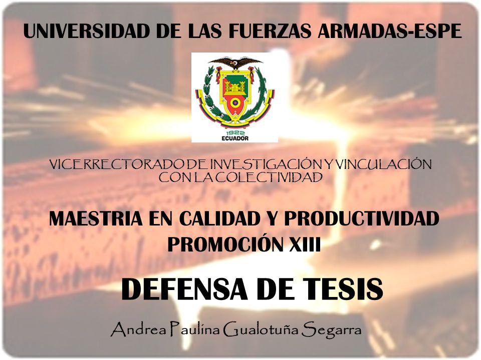 DEFENSA DE TESIS UNIVERSIDAD DE LAS FUERZAS ARMADAS-ESPE
