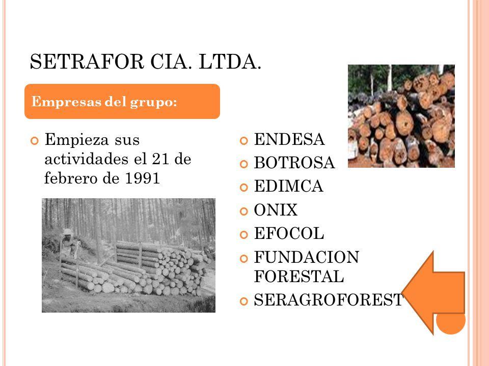 SETRAFOR CIA. LTDA. Empieza sus actividades el 21 de febrero de 1991