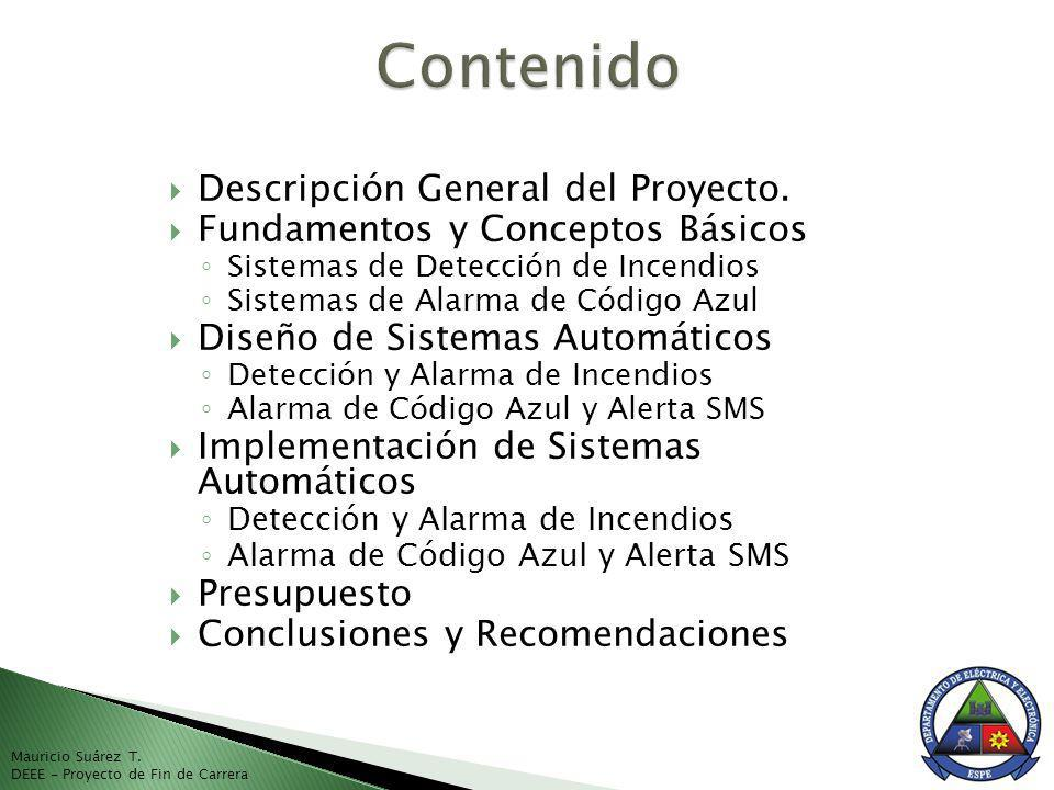 Contenido Descripción General del Proyecto.