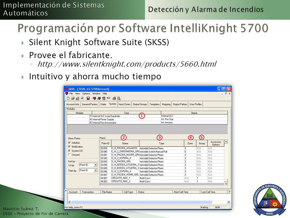 Programación por Software IntelliKnight 5700