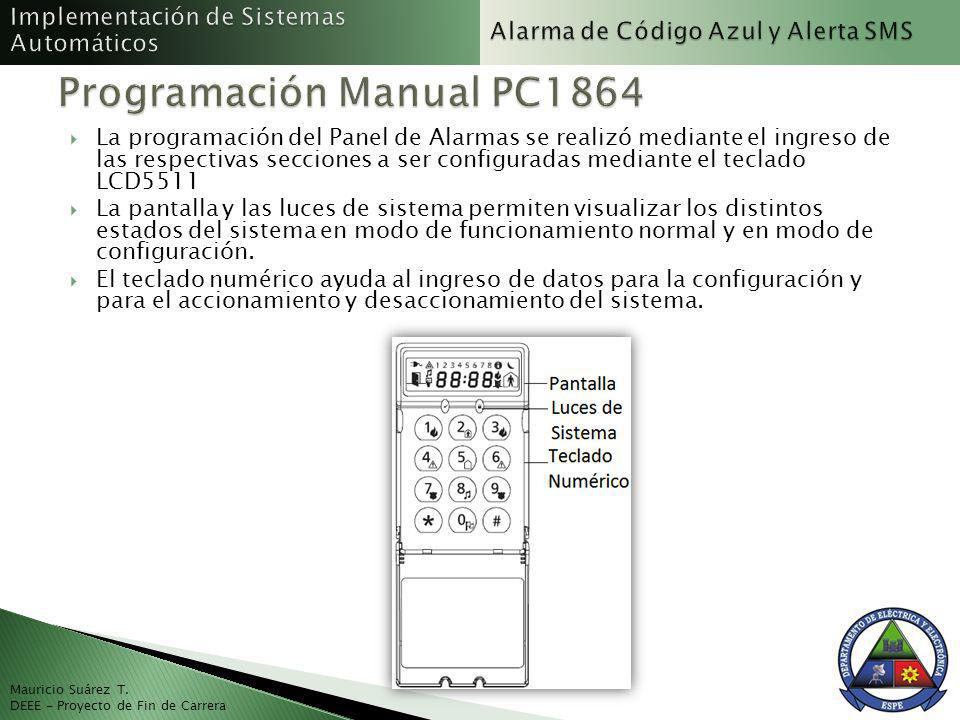 Programación Manual PC1864