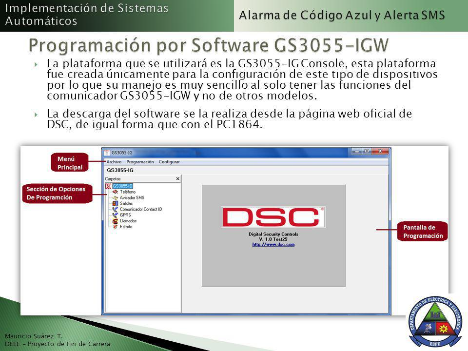 Programación por Software GS3055-IGW