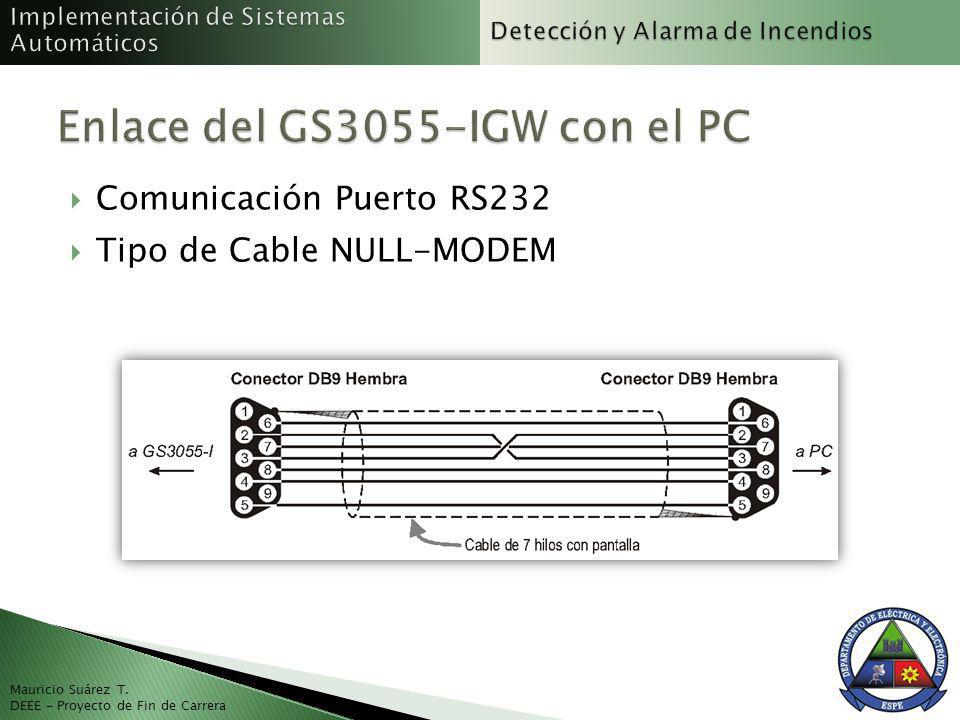 Enlace del GS3055-IGW con el PC