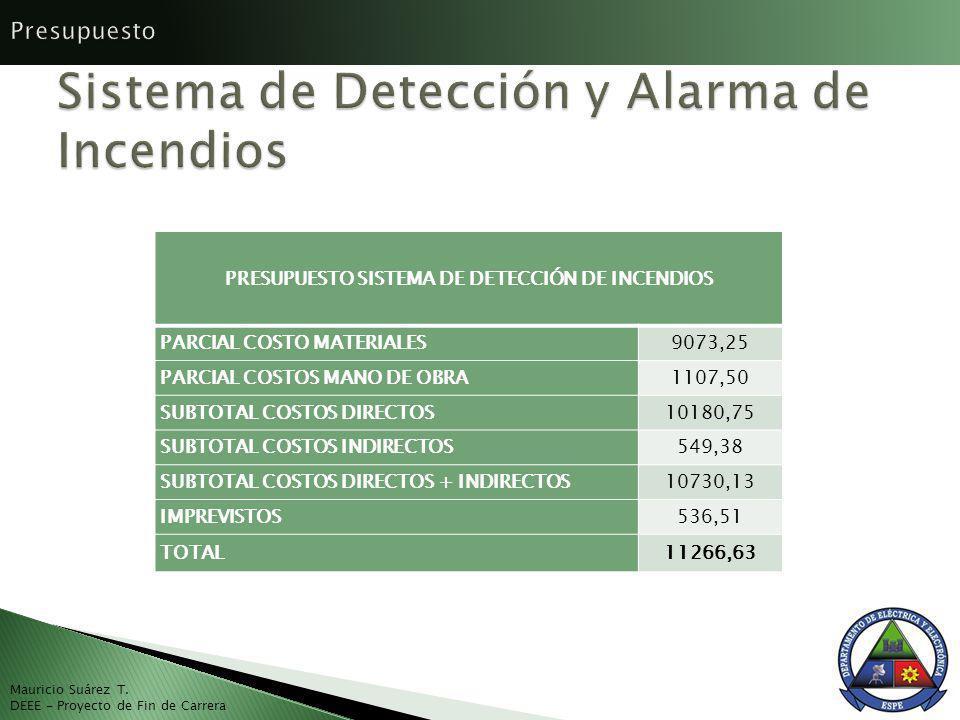 Sistema de Detección y Alarma de Incendios