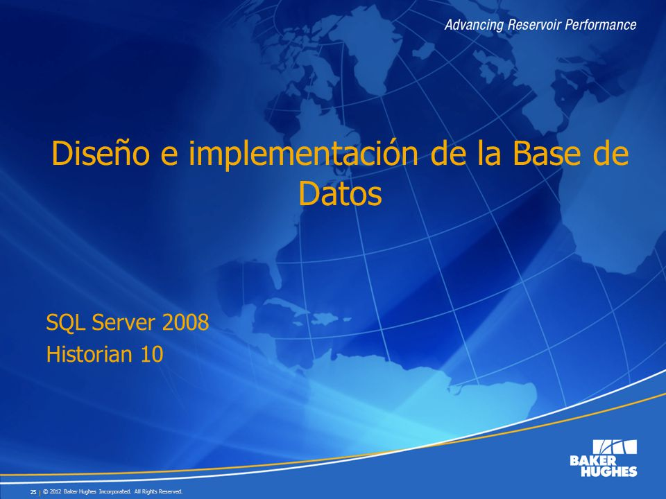 Diseño e implementación de la Base de Datos