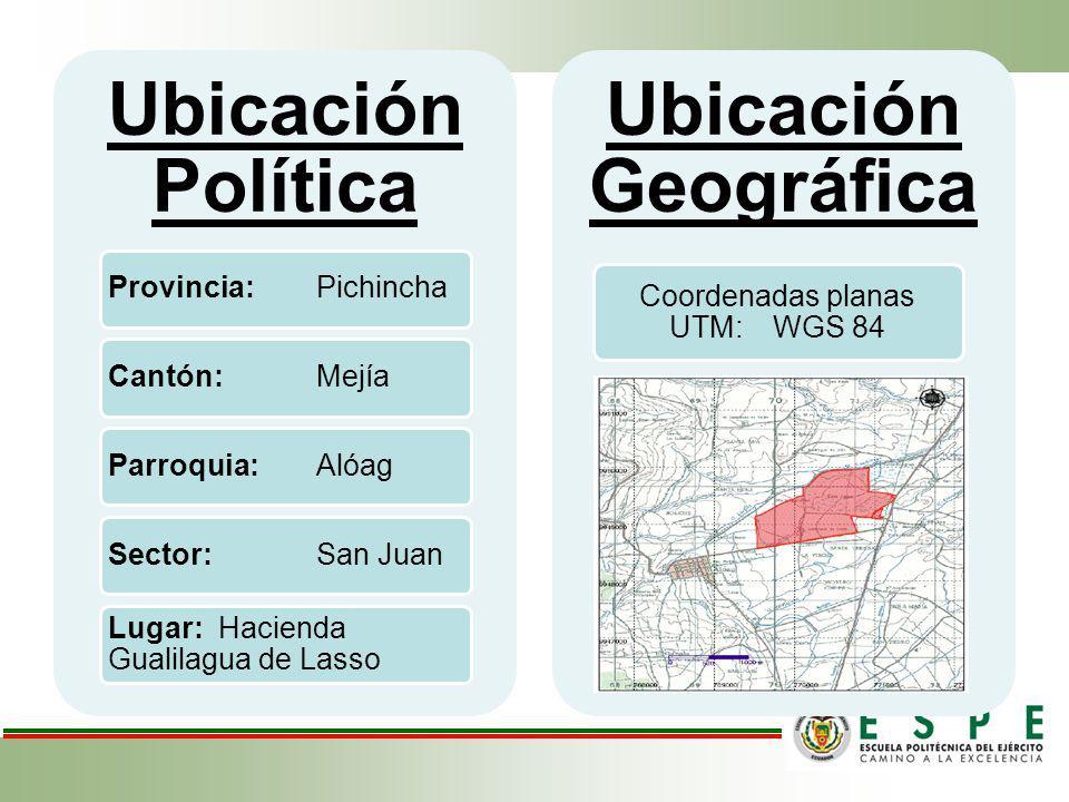 Coordenadas planas UTM: WGS 84