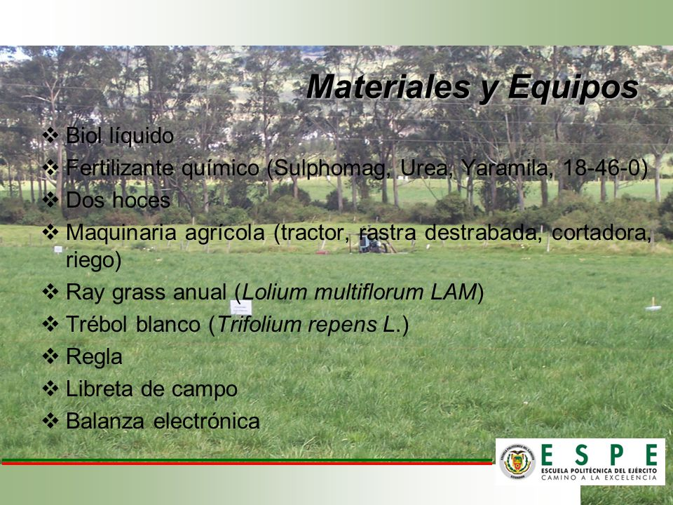 Materiales y Equipos Biol líquido